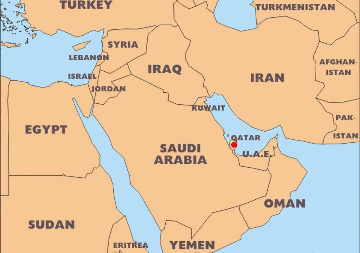 Katar Mape Sveta Umisteni Mapa Sveta Kataru Umisteni Zapadni